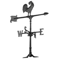 "Whitehall 30""  Accent Rooster Weathervane - Black"