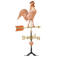 "Whitehall 20"" Copper Rooster Weathervane - Polished"