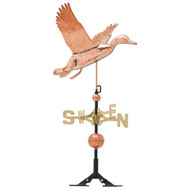 "Whitehall 24"" Copper Duck Weathervane - Polished"
