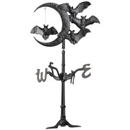 "Whitehall 17.5"" Halloween Bat Rooftop Weathervane – Black"