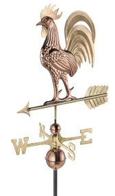 Good Directions 1937B Proud Rooster Weathervane - Pure Copper & Brass