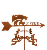 Kansas State Powercats Logo Weathervane with mount