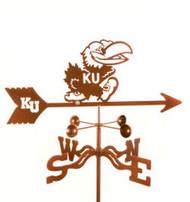 Kansas Jayhawks Logo Weathervane with mount