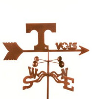 Tennessee Volunteers Logo Weathervane With Mount