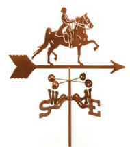 Horse-English Rider Horse Weathervane With Mount