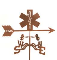 EMS Logo Weathervane With Mount