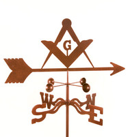 Masons Logo Weathervane With Mount