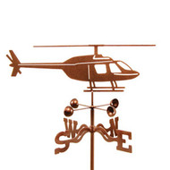 Airplane-Helicopter Weathervane With Mount
