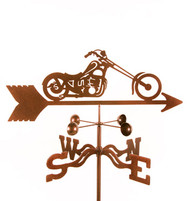 Chopper Motorcycle Weathervane With Mount