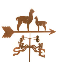 Alpaca and Baby Weathervane With Mount