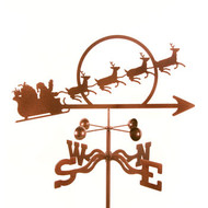 Santa with Sleigh Weathervane With Mount