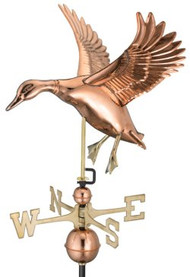 Good Directions Landing Duck Weathervane - Polished Copper