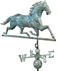 Good Directions Horse Weathervane - Blue Verde Copper