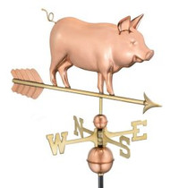 Good Directions Country Pig Weathervane - Polished Copper