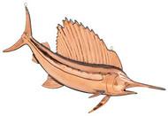 Polished Hanging Tail Up Sailfish