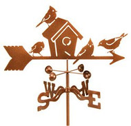 Bird-Birdhouse Weathervane w/mount