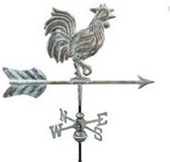 Weathervane - Rooster- Copper Verde With Mount