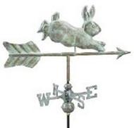 Weathervane - Rabbit- Copper  Verde With Mount