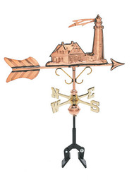 Weathervane - Polished - Cottage Lighthouse