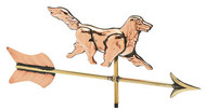 Weathervane - Polished - Cottage 3-D Dog w/Arrow