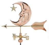 Weathervane - Polished - Moon & Star