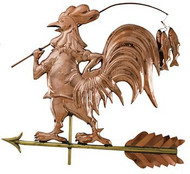 Weathervane - Polished - Fishing Rooster