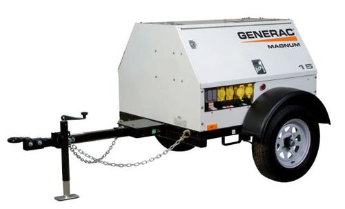 Generac MLG15M 13kW Mobile Light Towable Diesel Generator with Mitsubishi Engine