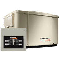 Generac PowerPact 6998 7.5kW Generator with Wi-Fi & 50A 8-circuit Transfer Switch