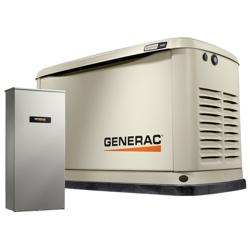 Generac Guardian 7030 9kW Generator with 100A 16-circuit Transfer Switch