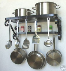 Pot Pan Rack French Style Wall Mount