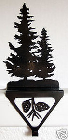 Pine Tree Stocking Holder Rustic Lodge Decor
