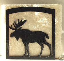 Moose Rustic Lodge Decor Napkin Holder
