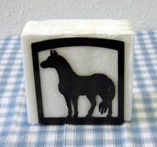 Horse Napkin Holder Western Decor Metal Art