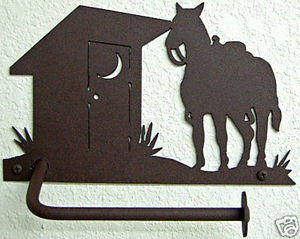 Horse Outhouse Western Toilet Paper Holder