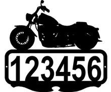 Motorcycle  Custom Address or Name Sign
