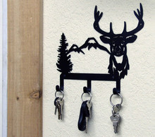 Deer Metal Wildlife Lodge Decor Key Holder