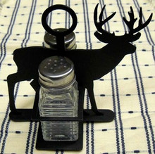Deer Wilderness Salt & Pepper Shaker Holder