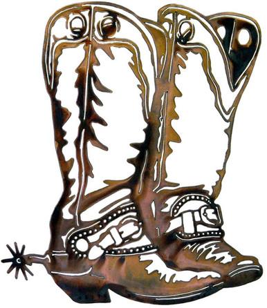 cowboy boots western decor metal wall art colorado metal worx rh coloradometalworx com cowboy boot art houston cowboy boots at woodbury common new york