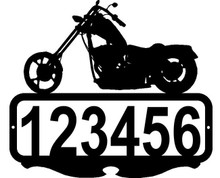 Chopper Motor Cycle  Custom Address Sign