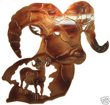 Big Horn Sheep Wall Metal Art Lodge Decor