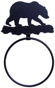 Bear Metal Art Towel Ring