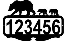 Bear and Cubs  Custom Address Sign