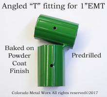 "Angled ""T"" fitting for 1"" EMT"