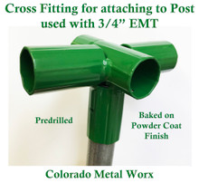 "Cross Fitting for attaching to Post used with 3/4"" EMT"