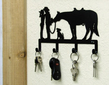 Western Romance Metal Art Key Holder