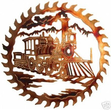 Train Railroad Saw Blade Metal Wall Art