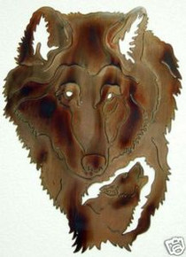 Timber Wolf Wildlife Decor Metal Wall Art