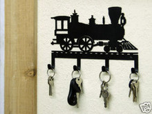 Train Engine Railroad Decor Key Holder