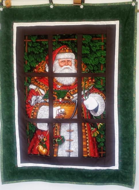 Santa Peeking in the Window