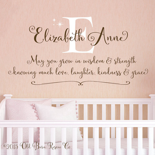 May You Grow   Personalized Wall Decal